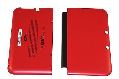 Official Nintendo 3DS XL  Housing Top, Bottom & Cover Red Shell Part USA - Popular for Sale