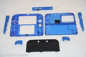 Limited Edition Nintendo 2DS Crystal Clear Full Shell Housing Replacement Blue - Popular for Sale  - 4