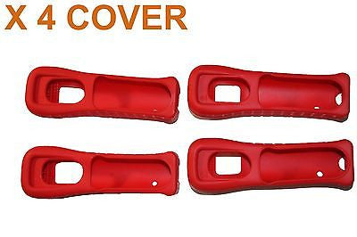 Lot of 4 X OEM Cover Nintendo Wii U RED Remote Controller fit to RVL-036 Cover - Popular for Sale  - 1