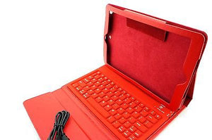 Apple iPad Air 5th Gen Wireless Bluetooth Keyboard Leather Case Cover RED - Popular for Sale  - 3