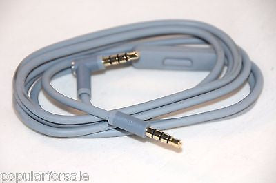 Original Audio Cable 3.5mm/ L Cord/ Beats by Dr Dre Headphones Aux & Mic Gray - Popular for Sale  - 1