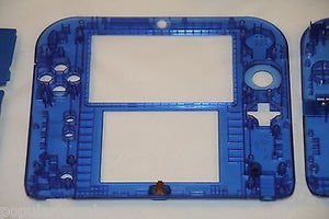 Limited Edition Nintendo 2DS Crystal Clear Full Shell Housing Replacement Blue - Popular for Sale  - 5