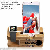 PRINT YOUR LOGO ON APPLE WOOD WATCH STAND DOCKING STATION 38MM / 42MM - Popular for Sale  - 2