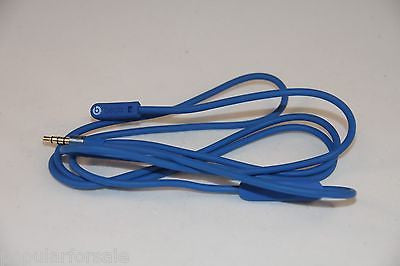 Original Audio Cable 3.5mm/ L Cord/ Beats by Dr Dre Headphones Aux & Mic Blue - Popular for Sale  - 1