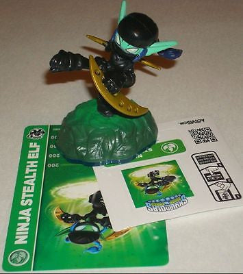 Skylanders Swap Force Dark Ninja Stealth Elf with Card Works in Trap Team - Popular for Sale