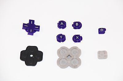 Original Official Authentic Nintendo 3DS Part Purple Button Set & Rubber Pad - Popular for Sale
