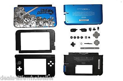 Blue SUPER SMASH BROS Nintendo 3DS XL Full Replacement Housing Shell Case Parts - Popular for Sale  - 1