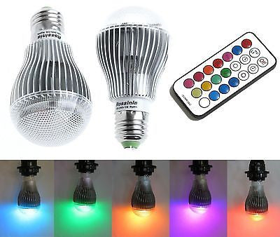 Lot of 20 X 9W E27 Color LED RGB Magic Light Bulb With Wireless Remote FREE SHIP - Popular for Sale