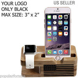 PRINT YOUR LOGO ON APPLE WOOD WATCH STAND DOCKING STATION 38MM / 42MM - Popular for Sale  - 3