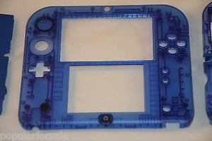 Limited Edition Nintendo 2DS Crystal Clear Full Shell Housing Replacement Blue - Popular for Sale  - 3