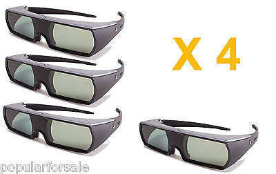 Sony CECH-ZEG1UX Active 3D Glasses Rechargeable For PlayStation 3 3D TV Lot of 4 - Popular for Sale  - 1