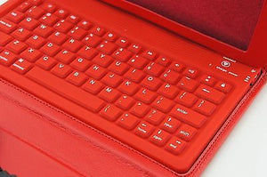 Apple iPad Air 5th Gen Wireless Bluetooth Keyboard Leather Case Cover RED - Popular for Sale  - 2