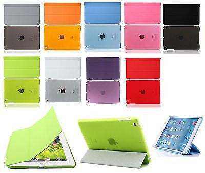 Slim Magnetic Smart Cover For Apple iPad Air With Clear Back Case Smart Wake - Popular for Sale