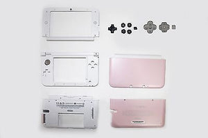 Original Nintendo 3DS XL Full Housing Shell Edition Peach Pink Replacement Part - Popular for Sale  - 1