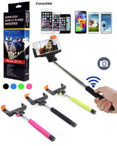 Bluetooth Selfie Stick Monopod for iPhone 6 Plus 5S and Samsung Galaxy Line - Popular for Sale  - 1