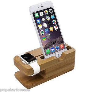 APPLE WATCH STAND iWATCH WOOD CHARGING STAND BRACKET DOCKING STATION 38MM / 42MM - Popular for Sale  - 2