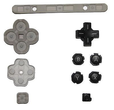 Original Official Authentic Nintendo 3DS XL Part Black Button Set & Rubber Pad - Popular for Sale  - 1