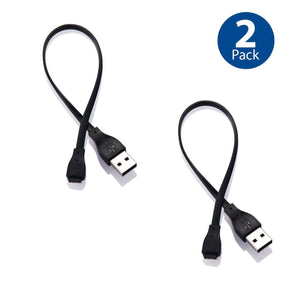2 Pack USB Charging Charger Cable Cord for Fitbit Force Band Bracelet Wristband