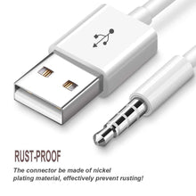 Load image into Gallery viewer, 2 X USB Charger Adapter 3.5mm Tip Cable for iPod Shuffle Fourth 4G 4 4th Gen