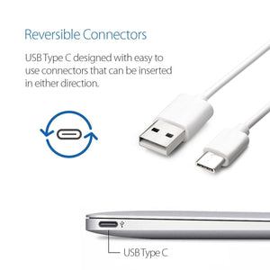 2X USB Type C (USB-C) to Type A (USB-A) Cable 3.1