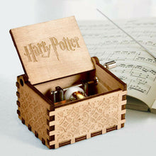 Load image into Gallery viewer, Harry Potter Engraved Wooden Hand Crank Music Box Boys Girls Toy Collectible