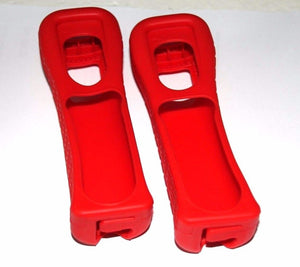 2X OEM NINTENDO WII REMOTE CONTROLLER RED SILICONE SKIN COVER