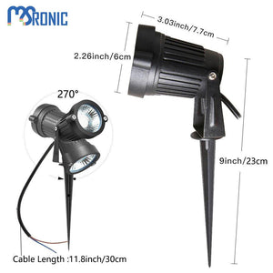 MSRonic 5W Spotlights LED Landscape Lights 12V 24V Waterproof Garden Path Warm 8