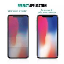 Load image into Gallery viewer, iphone x glass screen protector Tempered with cleaning pad (2 Pack)