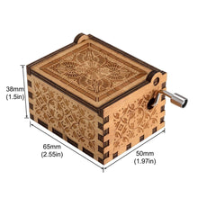 Load image into Gallery viewer, Music Box Hand Crank Musical Box Carved Wooden The Theme Song of Game of Thrones