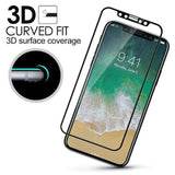 Useful iPhone X 3D Full Cover Slim Soft Edge Carbon Fiber Tempered Glass Film