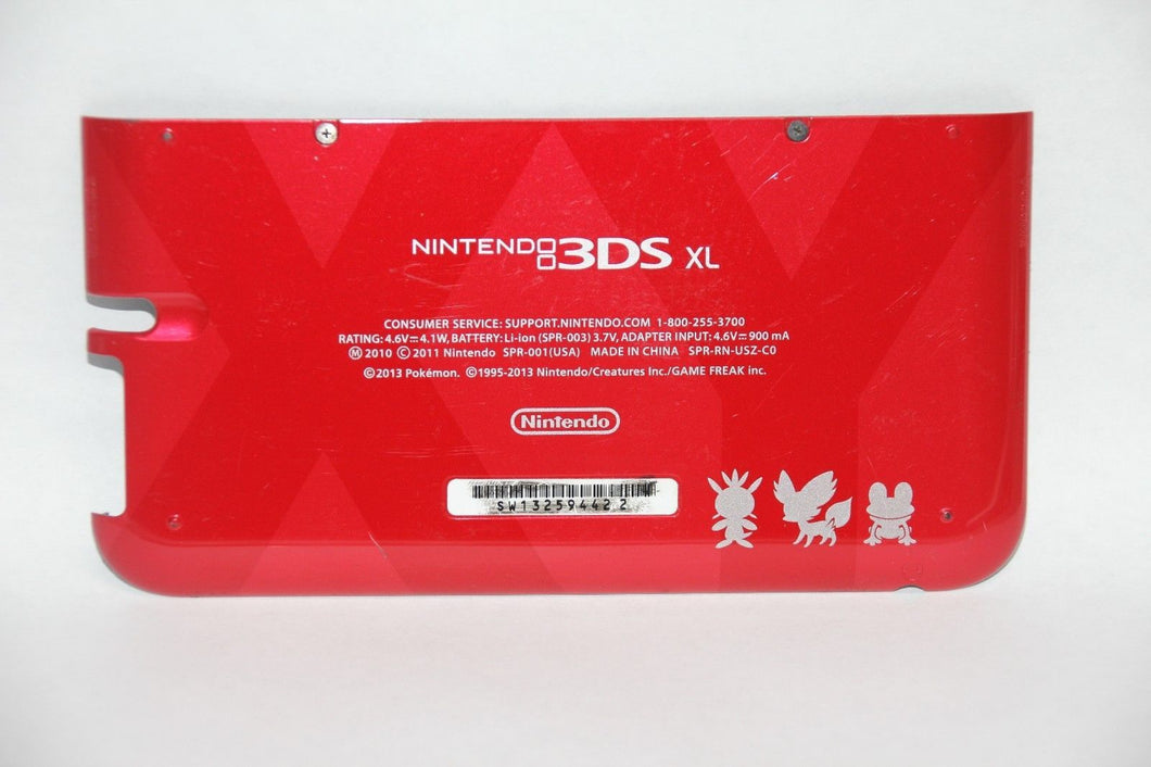 OEM RED Pokemon Nintendo 3DS XL Housing Back Bottom Battery Cover Shell Part
