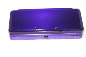 ORIGINAL NINTENDO 3DS CASE REPLACEMENT FULL HOUSING PURPLE SHELL WITH RED DOOR