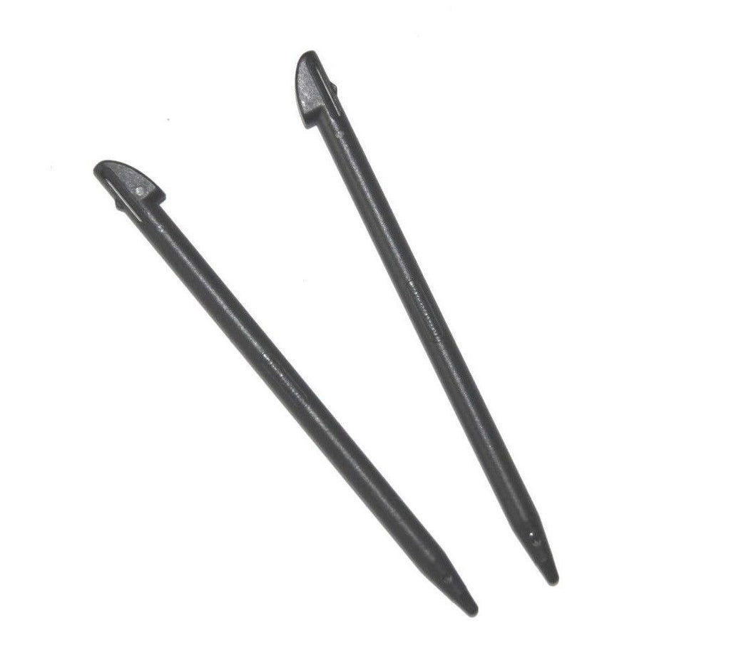 2 X Original Nintendo 3DS XL SPR-004 Black standard slot in stylus touch pen