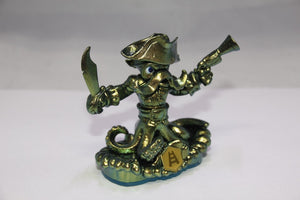 GOLD WASH BUCKLER Metallic Green RARE Variant Skylanders Swap Force Figure