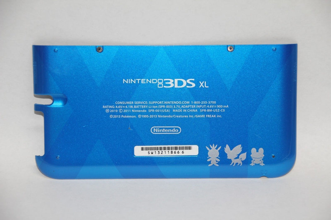 OEM Blue Pokemon Nintendo 3DS XL Housing Back Bottom Battery Cover Shell Part