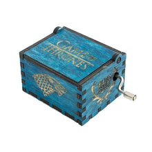 Load image into Gallery viewer, Game of Thrones Music Box Wooden Engraved Wood Main Theme GOT Winter is Coming
