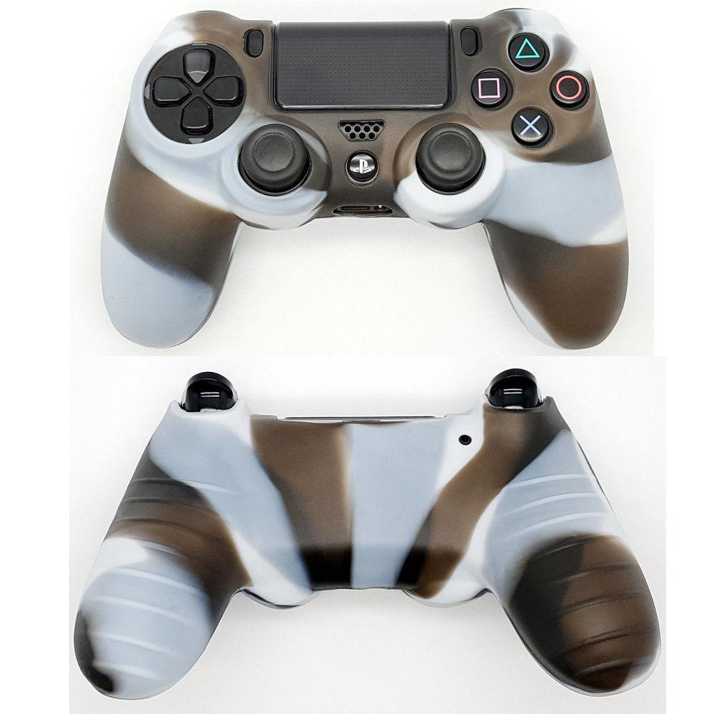 2 Pack X Camouflage Silicone Rubber Case Cover Skin For Sony Ps4 Controller Camo