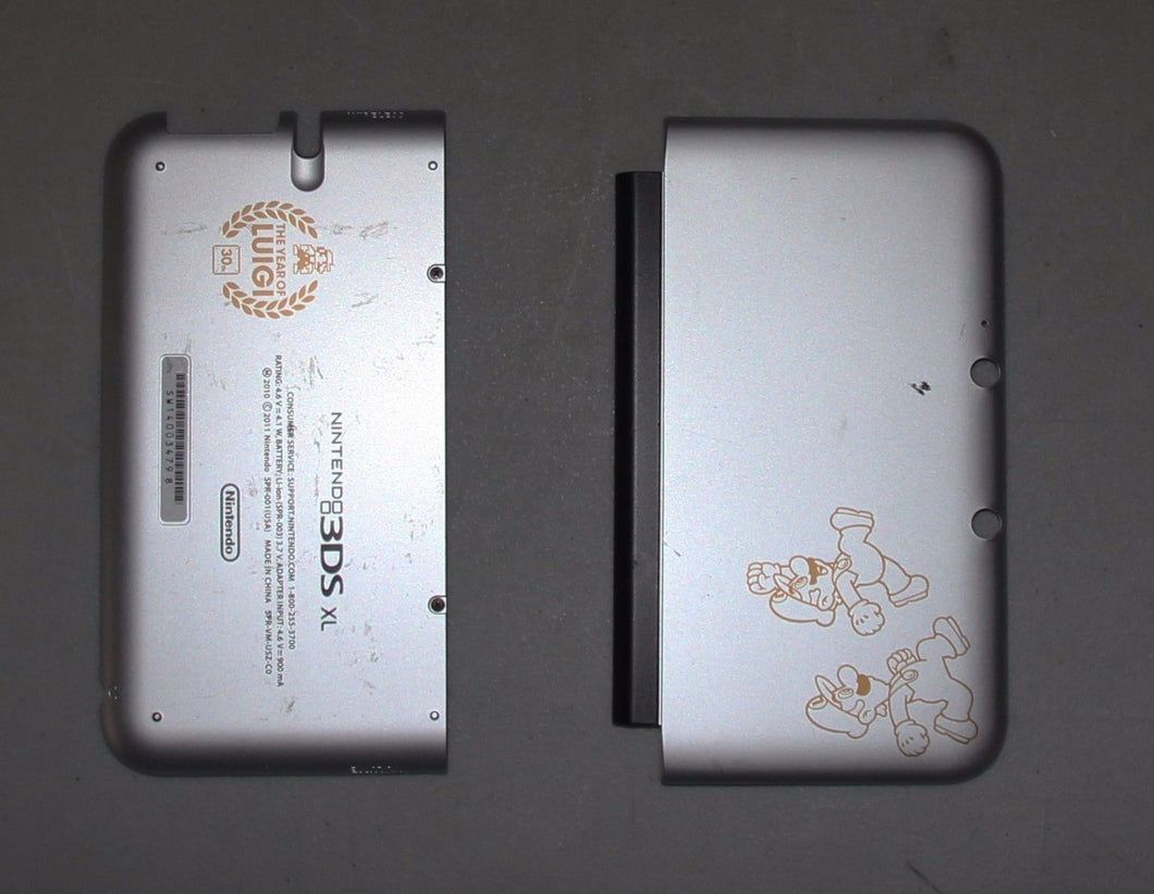 Original NINTENDO 3DS XL THE YEAR OF LUIGI 30th MARIO HOUSING TOP, BOTTOM COVER