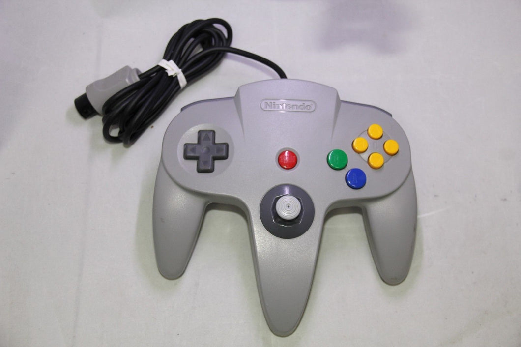 Authentic Nintendo 64 Controller Gray TESTED NUS-005 Joystick