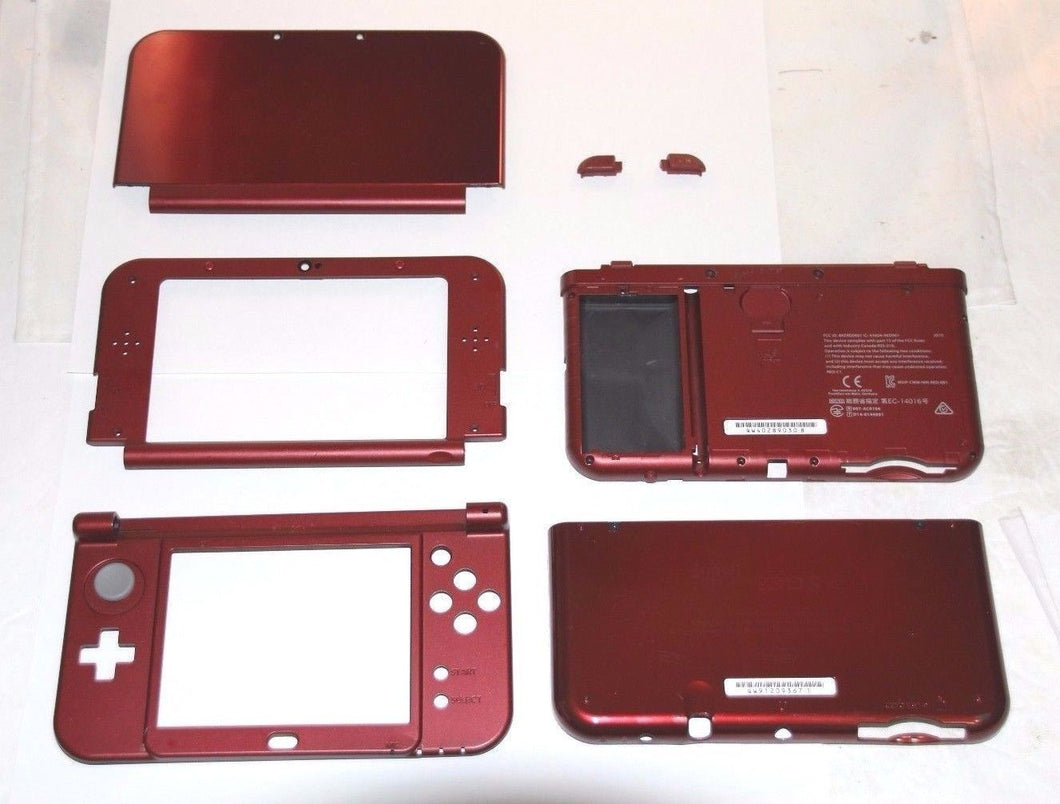 2015 New Version Nintendo 3DS XL LL Red Full Housing Parts Original Shell N3DSXL