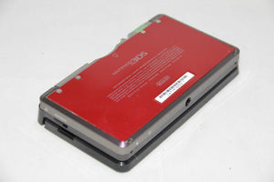 Nintendo 3DS Full Replacement Housing Shell Black with the Red battery door USA