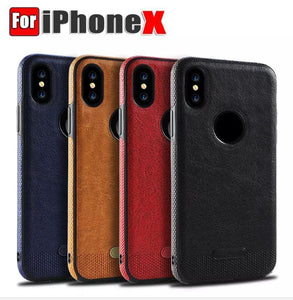 SLIM Luxury Leather Back Ultra Thin TPU Case Cover for iPhone X, new iphonex x