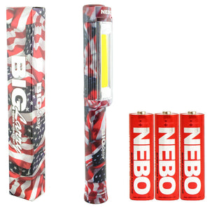 Nebo Big Larry Work Light w Magnetic Base Red/ Black/ Silver/ Camo/ USFlag 400Lm