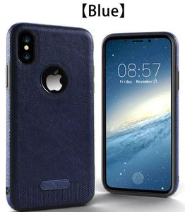 For Apple iPhone X Case Shockproof Protective Leather Pattern Stitching Cover