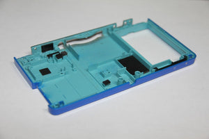ORIGINAL NINTENDO 3DS BLUE BOTTOM HOUSING SHELL PART, Motherboard Battery Holder