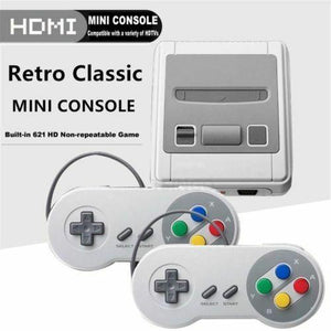 HDMI HD Super NES Mini SFC Classic Game Console Built in 621 Game + 2 Controller