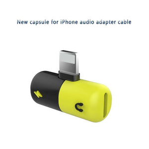 2 in 1 Adapter for iPhone X 8/7 Aux Splitter Audio Headphone Charge Cable Cord