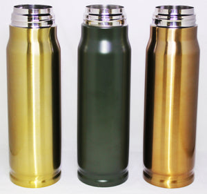 Bullet Thermos Coffee Mug Military Hunting Flask Novelty Stainless Steel 17oz
