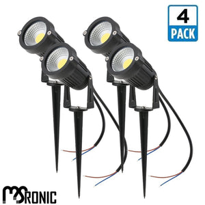 MSRonic 5W Spotlights LED Landscape Lights 12V 24V Waterproof Garden Path Warm 4 Pack
