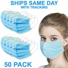 Load image into Gallery viewer, 50 PCS Face Mask Medical Surgical Dental Disposable 3-Ply Earloop Mouth Cover